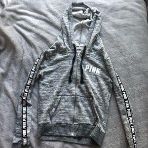 Grey PINK zip up jacket